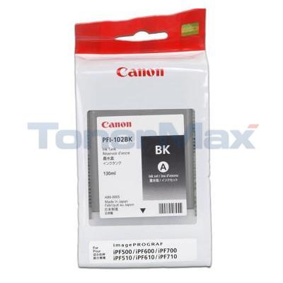 CANON PFI-102BK INK TANK BLACK 130ML